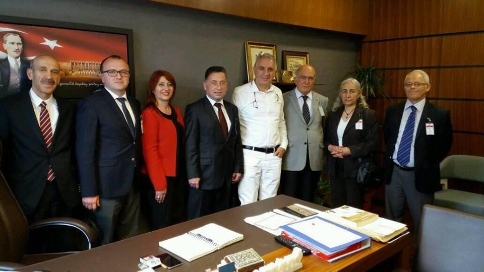 TBMM Plan ve Bütçe Komisyonu Üyesi Yusuf Selahattin Beyribey'i Makamında Ziyaret